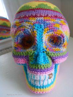 #santa muerte #sugar skull en #crochet by ®pimp ta life 2014