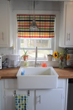 Jean's Small But Never Cramped Kitchen (Ikea butcher block & single Domsjo farmhouse sink)