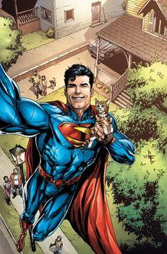 Cover Selfie DC comics 01 ACTION COMICS #34 por Gary Frank