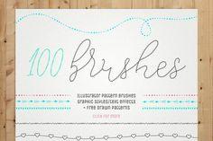100 Pattern Brushes 9 Graphic Styles by helga_helga
