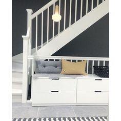 Tips på dold förvaring med Ikeas serie Nordli Interior Design Living Room, Living Room Decor, Bedroom Decor, Nordli Ikea, Hallway Inspiration, Best Ikea, Decoration, Furniture, Home Decor