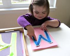 Make your own touch and feel letters for your littlest learner easily and without breaking the bank.