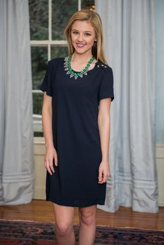 """""""Peak My Interest Dress, Navy"""" 