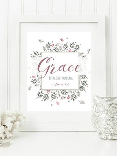 Do you have a word and verse for the new year? For a limited time I am offering FREE customization of this print in my Etsy shop. You can purchase this print here, or request customization: #oneword #oneword365 #oneword2017 #wordoftheyear