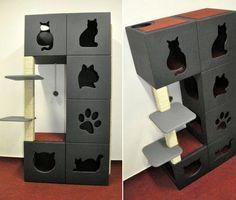 Can Cats Eat Cheese Product Cat Empire, Diy Cat Bed, Cat Tree House, Cat Cages, Pet Hotel, Cat Towers, Cat Enclosure, Cat Room, Cat Condo