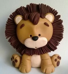 Best Indoor Garden Ideas for 2020 - Modern Fondant Cake Toppers, Fondant Figures, Fondant Cake Tutorial, Cake Topper Tutorial, Polymer Clay Projects, Polymer Clay Creations, Decors Pate A Sucre, Lion Cakes, Crea Fimo