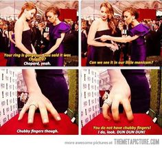 Chubby fingers... lol love Jennifer!