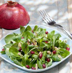 Feldsalat mit Granatapfel