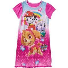 Nickelodeon Paw Patrol Girls Nightgown/Pajama Dress NWT Sz 6/6x~ Skye & Everest #Nickelodeon #Nightgown