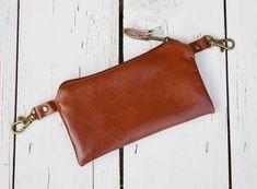 Correa de cuero marrón bolsa Unisex cuero genuino cintura por skbag