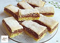 Diós-kekszes linzer piskóta tetővel Hungarian Desserts, Poppy Cake, Cookie Bars, Biscotti, Apple Pie, French Toast, Recipies, Food And Drink, Sweets