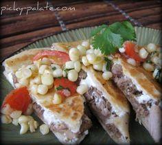 chees quesadilla, tomato relish, goat cheese sandwhich, steak quesadilla