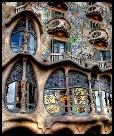 the wonderous work of Antonio Gaudi - BARCELONA Can't wait to visit Barcelona and Gaudi's work.