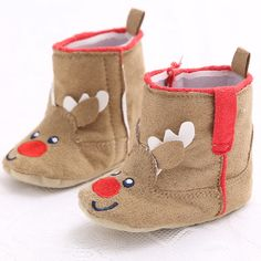 2017 New arrival Baby Girls Christmas Reindeer Toddler Snow Booties Infant Toddler Shoes Zapatos Sapatos De Bebe #Affiliate