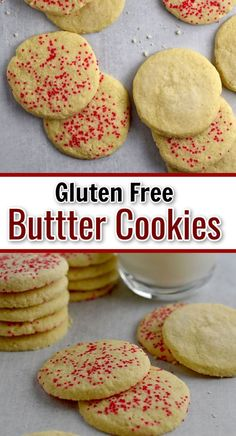 This easy recipe for Gluten Free Butter Cookies makes tender and buttery cookies. Need a gluten free cookie recipe for your holiday party or Christmas cookie exchange? You need to bake these butter cookies.