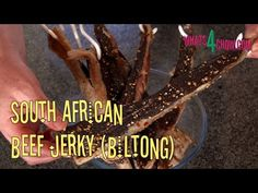South African Beef Jerky - Make Beef Jerky using the Traditional South African Biltong Method. Making Jerky, Biltong, Beef Jerky, Food Videos, Cooking Recipes, African, Traditional, Youtube, How To Make