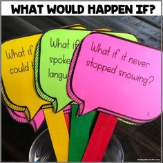 April Literacy Centers for 2nd Grade: What Would Happen If?