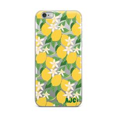 Lemon Yellow iPhone Case with Initials