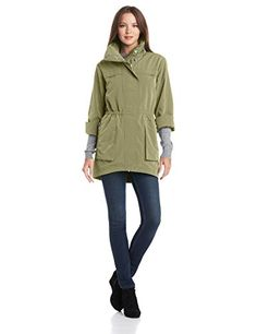 1b3c03e6c3c ANORAK Womens Classic Anorak Jacket Olive Small * Be sure to check out this  awesome product