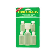 Coghlans Contain Alls: With containers for every pourable liquid or solid like coffee sugar cooking oil lotions… #Outdoors #OutdoorsSupplies
