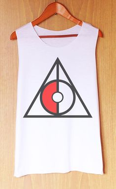 Deathly Hallows Symbol Pokemon style Tank Top Women by relaxtank, $14.89 I NEED…