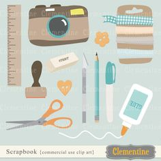 Scrapbook clip art, scrapbook clipart, camera clip art images for commercial use- BUY 2 GET 1 FREE. $5.00, via Etsy.