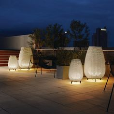 Modern Outdoor Lighting | Exterior Patio Lighting at YLighting Modern Outdoor Floor Lamps, Outdoor Flooring, Patio Lighting, Modern Lighting, Perriand, White Concrete, Luminaire Design, House Entrance, Outdoor Furniture Sets