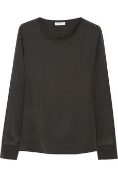Equipment Liam washed-silk top   NET-A-PORTER