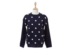 Big Polka Dot Knit Sweater