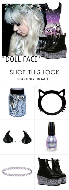 """""""Pastel Goth (10)"""" by temper61 ❤ liked on Polyvore featuring CO, Kreepsville 666 and Topshop"""