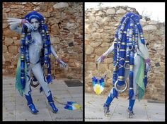 "It took NINE wigs to make the dreads for ""Final Fantasy X"" Shiva."