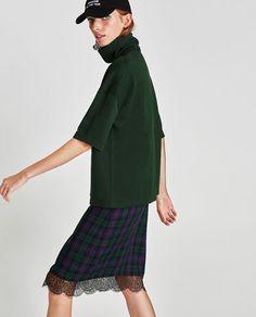 Image 2 of HIGH COLLAR SWEATSHIRT from Zara