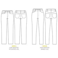 Ginger Jeans pattern // Skinny jeans sewing pattern