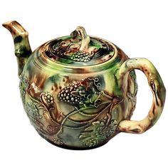 1stdibs.com   Antique English Staffordshire Whieldon type pottery teapot circa 1765