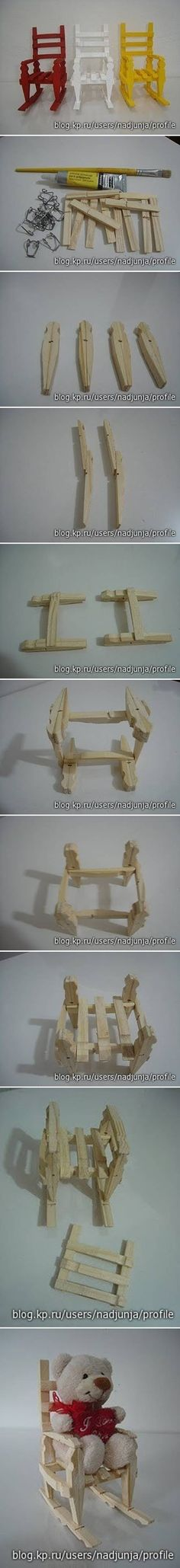 DIY Clothespin Rocking Chair