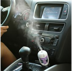Aromatherapy For Your Car - Portable Cool Mist Ultrasonic Humidifier with Aroma Diffuser -