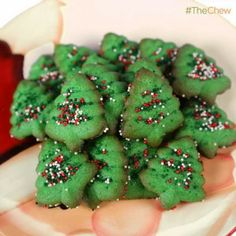 Kelly Meyers' Holiday Cream Cheese Press #Cookies #TheChew