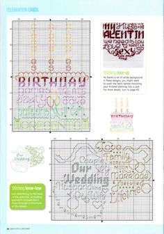 Greeting card motif free cross stitch pattern 3...for key see part 1