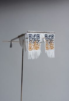 QR U? explores the juxtaposition of self promotion and personal privacy in this new environment. Could traditional African beadcraft be used in it's original function of communicating identity but used with modern technology in contemporary context?