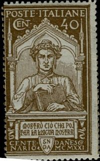 Literary Stamps: Dante Alighieri (1265 – 1321), Italy