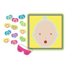 Baby Shower Game - Pin The Pacifier | 1set