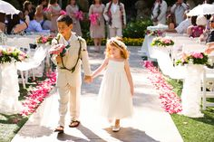 Hawaii Theme Wedding in Southern California. Click on link. Idea of men attire and flower option.
