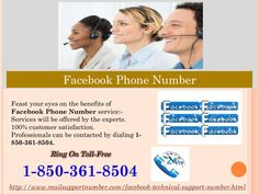 To whom shall I get associated via dialing Facebook Phone Number 1-850-361-8504? To know about all the Facebook features in detail and to use those ones in an effective way, you are advised to dial our Facebook Phone Number 1-850-361-8504 and get connected with our tech professionals. Here, you will get a teacher like school who will guide you step-by-step. So, make a call on our number. For more information. http://www.mailsupportnumber.com/facebook-technical-support-number.html FACEBOOK…