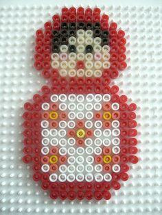 Matryoshka hama perler by Gabulle in wonderland Pixel Pattern, Pattern Art, Hama Beads Patterns, Beading Patterns, Perler Beads, Crafts To Do, Crafts For Kids, Iron Beads, Matryoshka Doll