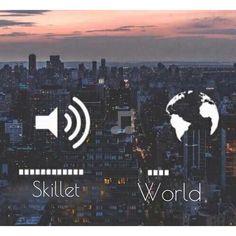 skillet on, world off