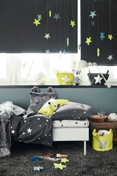 Kids Room Interior - H&M Home Collection Rooms Decoration, Room Decor, Baby Bedroom, Kids Bedroom, Star Bedroom, Fashion Room, Kid Spaces, Boy Room, Child's Room