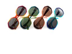 SEE 1639 SUN :: BERRY/YELLOW-GREY SOLID, TEAL/GREEN-G15 SOLID, BROWN/PEACH-BROWN SOLID, BLUE/AQUA-GRAY SOLID :: $99 class=