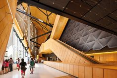 Perth Arena by ARM Architecture & Cameron   Chisholm Nicol - Joint Venture Architects. Image by John Gollings.