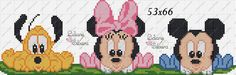 Disney babies - no color chart Hand Embroidery Patterns, Embroidery Art, Cross Stitch Patterns, Baby Mickey Mouse, Mickey Mouse And Friends, Cross Stitch Bookmarks, Cross Stitch Baby, Animated Disney Characters, Crochet Diagram