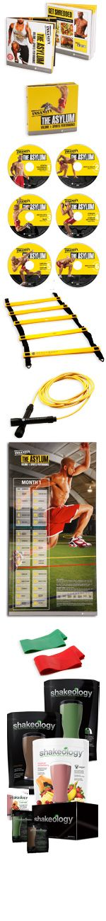 INSANITY: THE ASYLUM Challenge Pack. An all in 1 bundle to get you ultimate results in 30 Days! Fitness + Nutrition + Support included! Results Guaranteed! Save 30% off retail price!